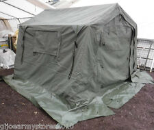 British Army 9x9 WOLF Land Rover Canvas Frame Tent DIRECT MOD Stall Gazebo BBQ