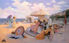 A Day At The Beach - 1900 by Christa Kieffer Seascape Limited Edition Print