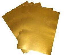 10 fogli A4 metallizzati Oro Adesivi per stampanti laser, 80 Micron
