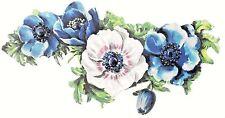 DIECUT Scrap ~ OVERSIZE BLUE, PINK & WHITE FLORAL GARLAND, Victorian Advertising