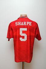 MANCHESTER UNITED ENGLAND 1994/1995/1996 HOME FOOTBALL SHIRT JERSEY UMBRO SHARPE