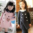 Girls Kids Dress Top Skirt Long Sleeve 2-7 Y Baby Princess Party 1-Piece Clothes