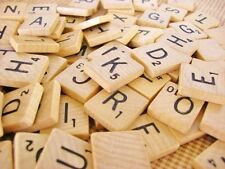 Complete Set of 100 Scrabble Letter Tiles Wooden Game Pieces USA Seller