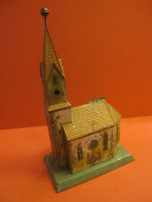 ALL ORIGINAL LARGE CHURCH TIN TOY BUILDING STILL BANK GERMANY DATED 1906