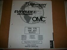 EVINRUDE OUTBOARD MOTOR BOAT ENGINE 150, 175 105 JETMODELS Illust. parts
