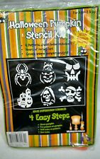 Halloween pumpkin carving stencil kit 6 stencils and scoop carver drill 8 andup
