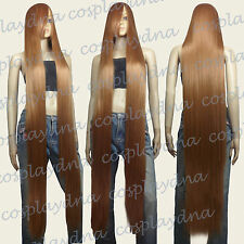 60 inch Hi_Temp Series Light Brown Extra Long Cosplay DNA Wigs 81LLB