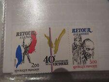 TIMBRE FRANCE NEUF 1985 - Triptyque 40ème Anniversaire de la Victoire - YT 2369A