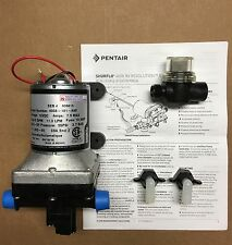 SHURflo 12V 3.0 GPM RV Water Pump 4008-101-A65 w/ Strainer and 2 Hose adapters.