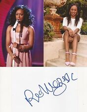 X FACTOR* RELLEY C SIGNED 6x4 WHITECARD+2 UNSIGNED PHOTOS+COA