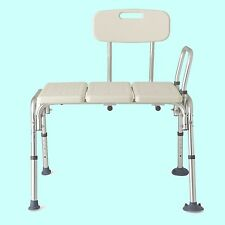 BATHTUB TRANSFER BENCH Shower Safety Handicap Chair Adjustable Seat Bath Tub Aid