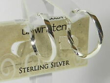 Unwritten Earrings Sterling Silver Twisted Hoops