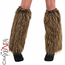 Adult Viking Warrior Leg Warmers Caveman Cavegirl Fancy Dress Accessory New