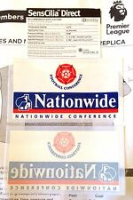Official 2002-06 NATIONWIDE CONFERENCE Soccer LEXTRA Sporting iD Badge Patch Set