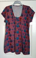 Lovely JOE BROWNS Owl Print Tunic Dress / Long Top - Size 22 - Great Condition
