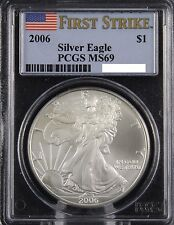 2006 FIRST STRIKE MS69 AMERICAN SILVER EAGLE! PCGS #H23