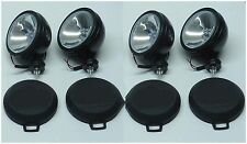 """4PCS  SIX INCH  6"""" OFF ROAD LIGHT DRIVING/FOG  LIGHT BLACK HOUSING WITH COVER"""