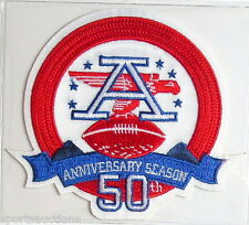 AFL AMERICAN FOOTBALL LEAGUE 50th ANNIVERSARY NFL PATCH CARD Willabee Ward 2009