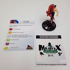 Heroclix Street Fighter set Fei Long #011 Uncommon figure w/card!