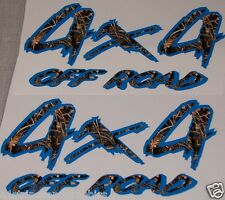 Real tree M4 Camo /Blue 4X4 OFF ROAD #5 BED Decals Decal F150 F250 Ram Chevy GMC