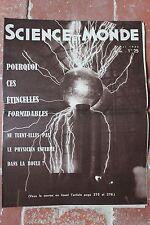 Ancienne revue - SCIENCE ET MONDE - N°155 Mai 1934 - Physique - Etincelles