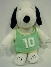 "10"" Peanuts Snoopy Plush Wearing #10 Jersey and Shorts"