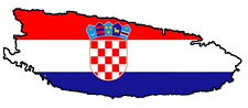 "Auto Aufkleber ""Brac"" Kroatien Croatia Decal Sticker!"