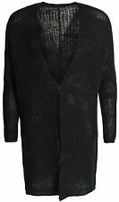 TRANSIT PAR SUCH STRICKJACKE CARDIGAN MANTEL GR. IT 42 D 36 / S SCHWARZ * NEU