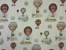 STOF MONTGOLFIERE LINEN HOT AIR BALLOON CURTAIN FURNISHING FABRIC FRENCH NATURAL