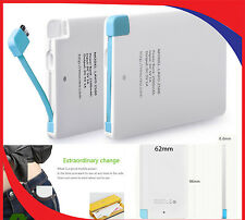 SLIMLINE CREDIT CARD STYLE EXTERNAL PORTABLE POWER BANK 2500mAh USB