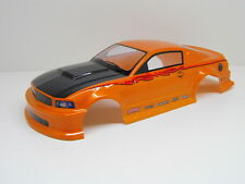 "RC CAR KAROSSERIE 1:10 ""MUSCLE COUPE"" ORANGE / CARBON STYLE 190MM # HX043"