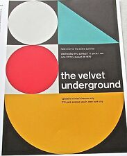 The Velvet Underground -Rock and Roll Band Concert Mini-Poster 13x10-Framable