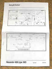 Bang & Olufsen BEOCENTER 4000, type 1603 WIRING diagrams / leaflet (B&O).