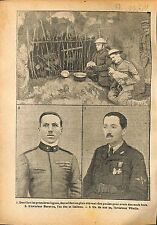 Tommies Soldiers British Army Hens Eggs/Aviator Baracca WWI 1918 ILLUSTRATION