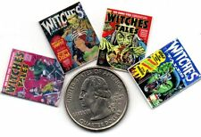4 Miniature - HALLOWEEN -  Witches Tales  Comics  - Dollhouse  1:12 scale