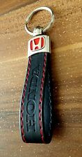 HONDA  Key ring CIVIC TYPE R TYPE S R BLACK RED ECO Leather Key chain Keyring