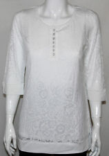 NWT Modern Soul 3/4 Sleeve U-neck Burnout Tunic w/ Stretch Tank WHITE/XS