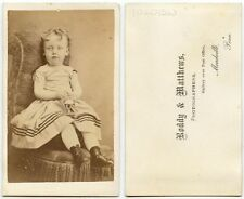 SMALL CHILD W/ TOY IN HAND BY MATTHEWS, MEADVILLE, PA, ANTIQUE CDV