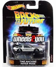 TIME MACHINE HOVER MODE Back to the Future - 2017 Hot Wheels Retro Ent A Case