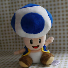 "NEW SUPER MARIO BROS. 6"" Blue Toad Stuffed Doll plush toy"