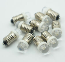 10pcs Lamp LED Bulb 6V Volt White MES E10 1447 Screw for Torch bike bicycle