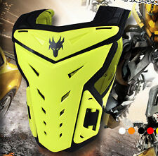Motocross Sentinel Body Armour Chest Protector MX Adult Adjustable Yellow