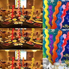 10pcs Giant Spiral Balloons Kids Birthday Wedding Party Decoration Toy Gift Hot