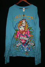 New w/Tag Ed Hardy by Christian Audigier Long Sleeve Shirt Size 2X