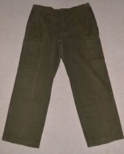 "Mens M&S Dark Olive Baggy Cargo Jeans Trousers Chinos W40 L31 40"" Waist"