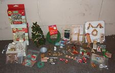 Vintage Miniature Doll House Furniture & Accessories LOT CHRISTMAS