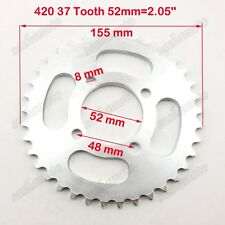420 37 Tooth 52mm Rear Chain Sprocket Chinese ATV Quad Dirt Pit Bike Motorcycle