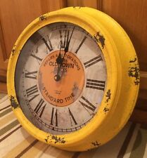 "OLD TOWN Repairs and Restorations 15"" WALL CLOCK. Standard Time Est. 1863 Clocks"