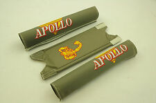 "OLD SCHOOL BMX 20"" APOLLO SCORPION PAD SET GREY GENUINE MADE IN THE 80's NOS"