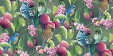 Fat Quarter Wild Wings Fruit Of The Vine Birds & Plums Cotton Quilting Fabric